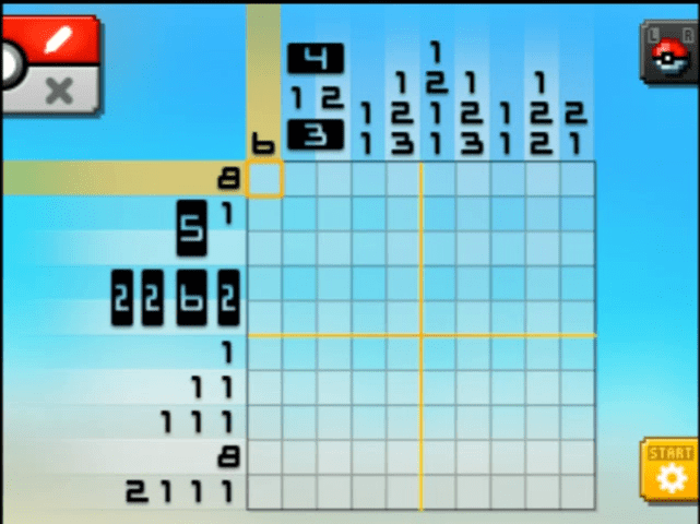 S01 03 a01 01 oshawott pokemon picross walkthrough gogo for Mural 01 pokemon picross