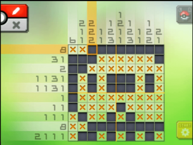 S01 03 a01 01 oshawott pokemon picross walkthrough gogo for Picross mural 1