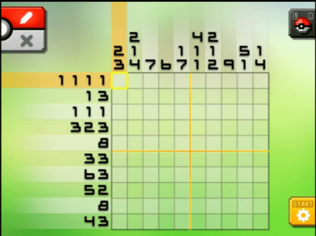 S03 01 a03 04 blitzle pokemon picross walkthrough gogo for Mural 01 pokemon picross