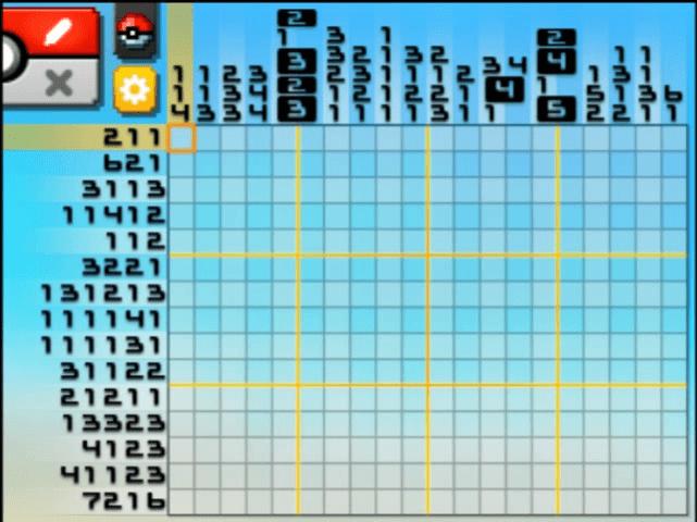Pokemon picross s07 07 images pokemon images for Picross mural 1