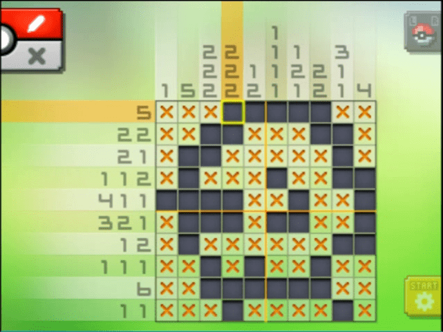 S09 02 a09 01 fletchling pokemon picross walkthrough gogo for Mural 01 pokemon picross