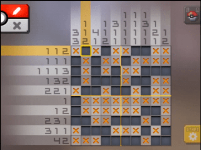 S11 02 a11 06 bagon pokemon picross walkthrough gogo for Mural 01 pokemon picross