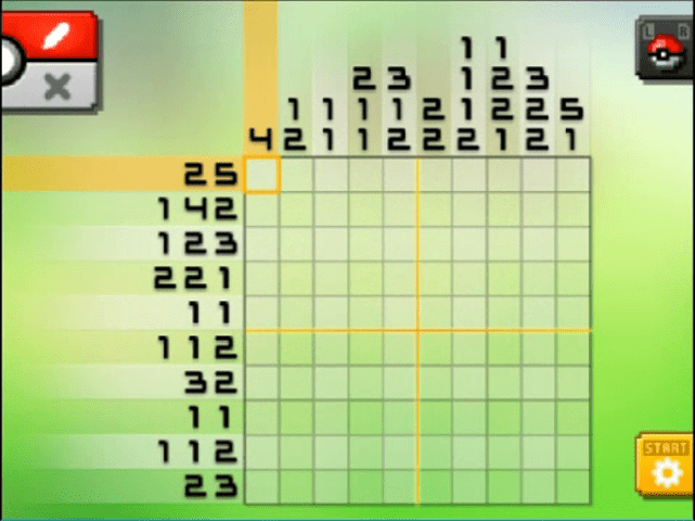 S13 01 a13 04 snivy pokemon picross walkthrough gogo for Mural 01 pokemon picross