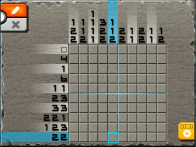 Mural mode of m02 from top 2 from left 8 pokemon picross for Picross mural 1