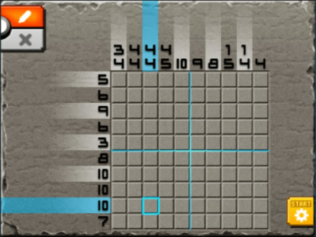 Mural mode of m02 from top 8 from left 2 pokemon picross for Pokemon picross mural 1